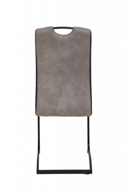 8 Freischwinger=Set Schwinger Stuhl Tabea II 50/03 Grau Schwarz Microfaser Kunstleder