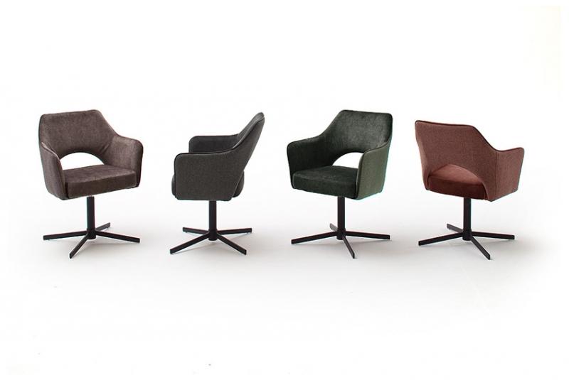 2 Armlehnstühle=Set Küchenstuhl Stuhl Cocktailsessel VALLETTA Anthrazit VAXS90AN