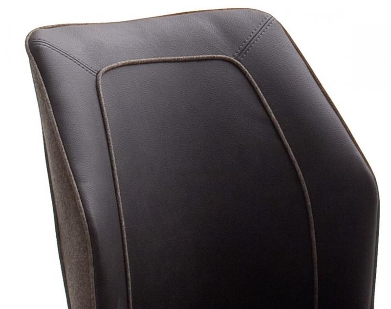 6 Freischwinger=Set Schwing - Stuhl Aberdeen Flachgewebe Braun ABSA85BX