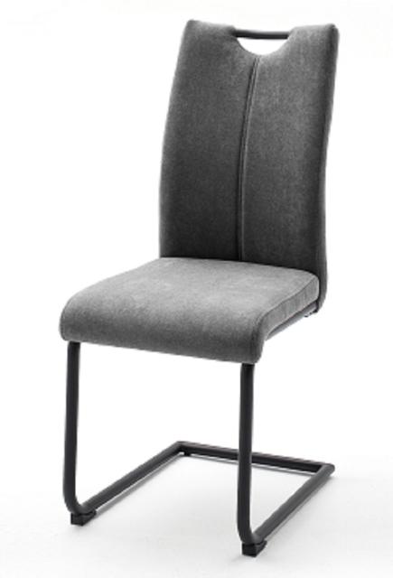 8 Freischwinger = SET Schwinger Schwingstuhl Küchenstuhl Stuhl Adana Grau ADSS29GX