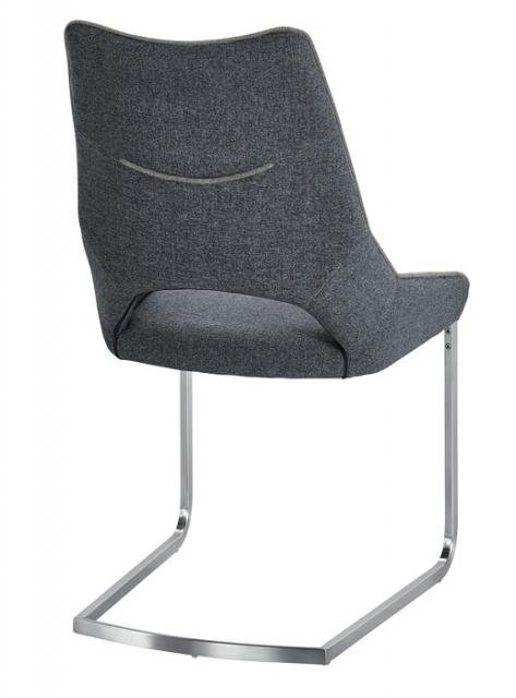 4 Freischwinger =Set Schwing - Stuhl Aldrina Grau ALKE39GX
