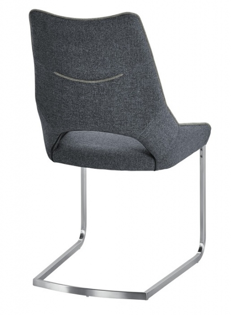 8 Freischwinger =Set Schwing - Stuhl Aldrina Grau ALKE39GX