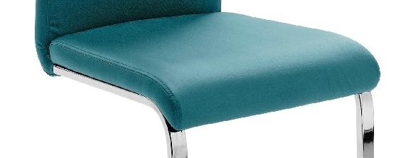 8 Freischwinger=Set Schwing - Stuhl KÖLN Kunstleder Petrol KOEC10PE