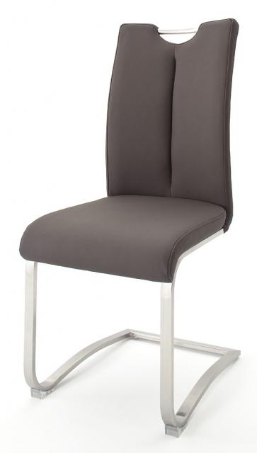 8 Freischwinger=Set Schwing - Stuhl ARTOS 1XL Kunstleder Braun A1XL10BX