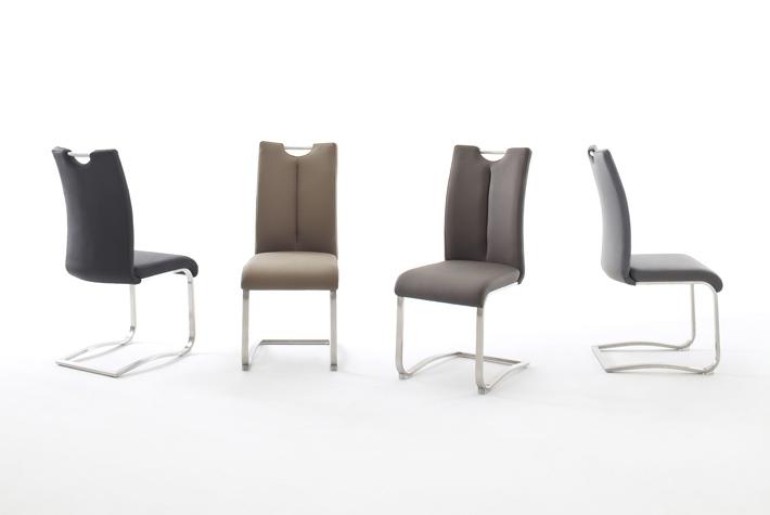 6 Freischwinger=Set Schwing - Stuhl ARTOS 1XL Kunstleder Cappuccino A1XL10CX