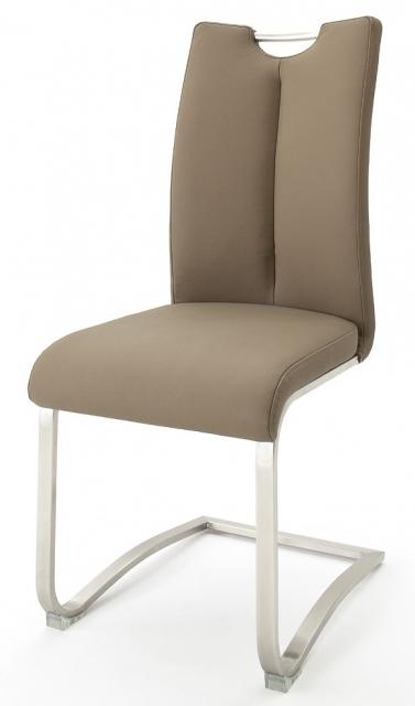 8 Freischwinger=Set Schwing - Stuhl ARTOS 1XL Kunstleder Cappuccino A1XL10CX
