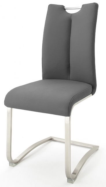 2 Freischwinger=Set Schwing - Stuhl ARTOS 1XL Kunstleder Grau A1XL10GX