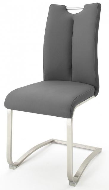 6 Freischwinger=Set Schwing - Stuhl ARTOS 1XL Kunstleder Grau A1XL10GX