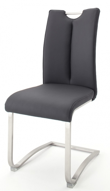 2 Freischwinger=Set Schwing - Stuhl ARTOS 1XL Kunstleder Schwarz A1XL10SX