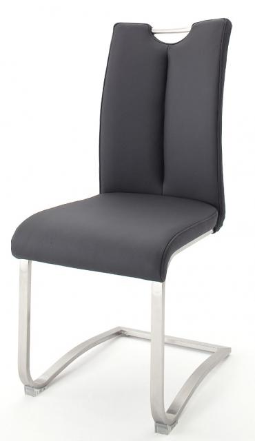 8 Freischwinger=Set Schwing - Stuhl ARTOS 1XL Kunstleder Schwarz A1XL10SX