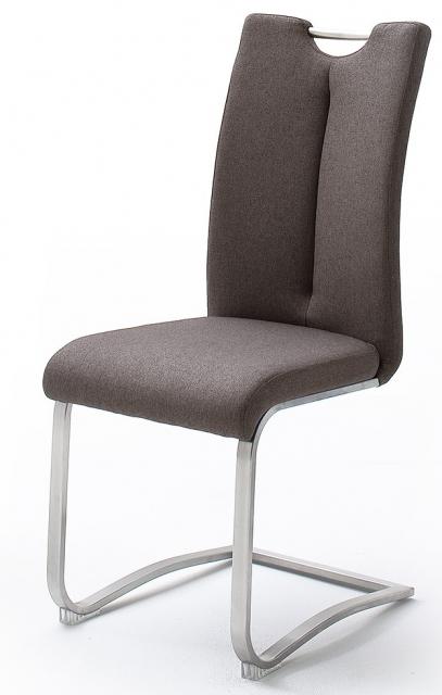 2 Freischwinger=Set Schwing - Stuhl ARTOS Feingewebe Braun ARXL31BX
