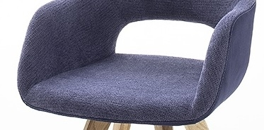 8 Armlehnstühle=Set Küchenstuhl Stuhl Cocktailsessel ASELLA Nachtblau ASWAFANB