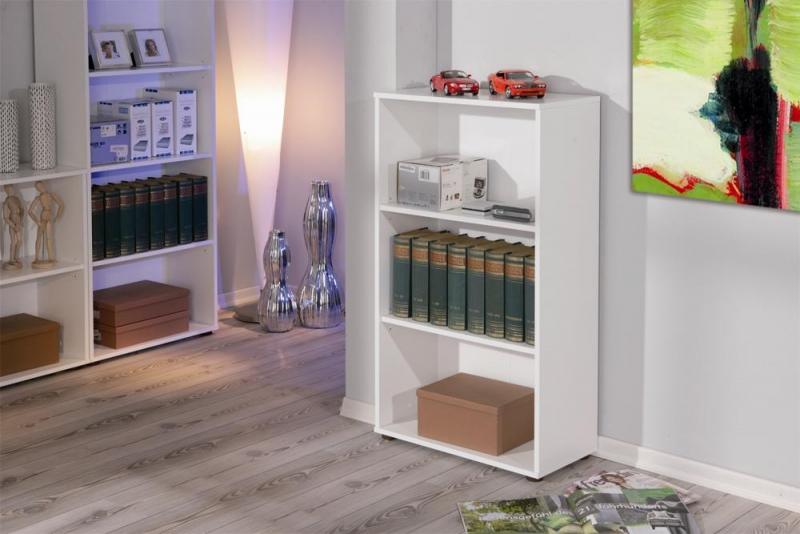Raumteiler, Regal, Bücherregal, Bücherbord Arco2 Weiß