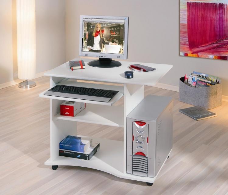 Schreibtisch, Arbeitstisch, Bürotisch, Computertisch Pepe Weiß