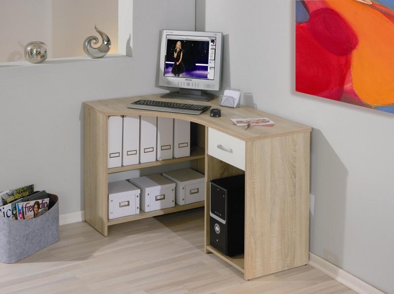 Schreibtisch Eckschreibtisch, Computertisch Caprera Sonoma Eiche Dekor