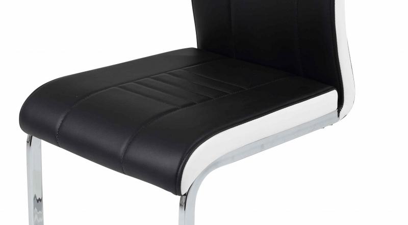 2 Freischwinger=Set Schwingstuhl Stuhl Tabea03/13 Schwarz Weiß