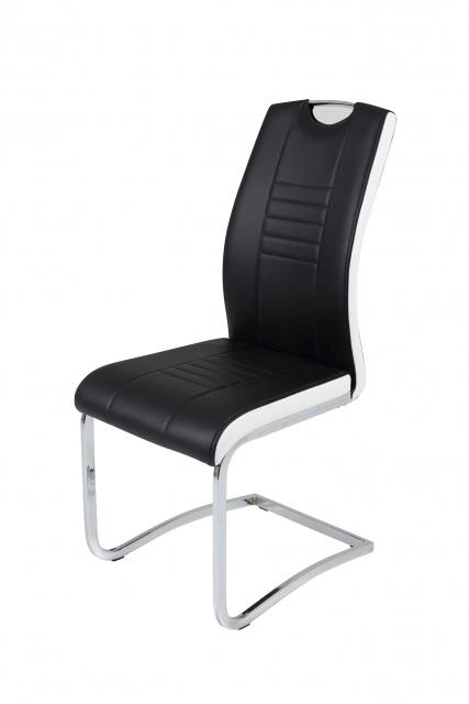 8 Freischwinger=Set Schwingstuhl Stuhl Tabea03/13 Schwarz Weiß
