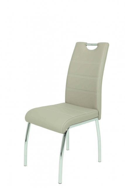 4 Stühle=Set Vierfussstuhl Stuhl Susi S 34 Kunstleder Cappuccino