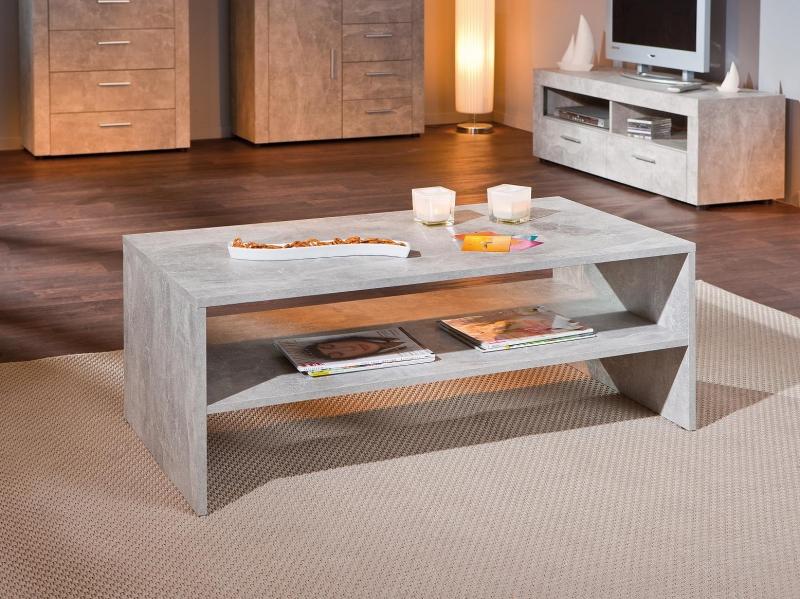 Couchtisch Design-Tisch Beistelltisch Wohnzimmer Beton 5.1