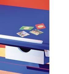 Lerntisch, Tisch, Schreibtisch Paco Kiefer Blau & Weiß