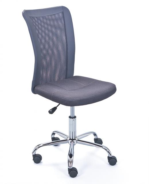 Drehstuhl, Bürostuhl, Kinder-Stuhl Bonnie Mesh Grau mit Rollen