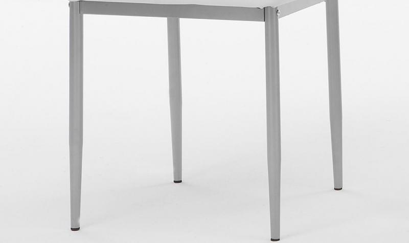 6 Stühle=Set Vierfussstuhl Stuhl Simone S 13 Kunstleder Weiß