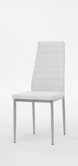8 Stühle=Set Vierfussstuhl Stuhl Simone S 13 Kunstleder Weiß