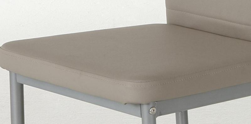 2 Stühle=Set Vierfussstuhl Stuhl Simone S 34 Kunstleder Cappuccino
