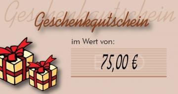 Gutschein 75,00 ¤