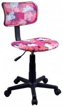 Kinder-Drehstuhl Bürostuhl Schreibtischstuhl 60022P Stoff Pink