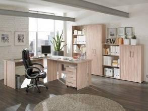 6-teilige Büro-Kombination Bonn Sonoma Eiche Nachbildung