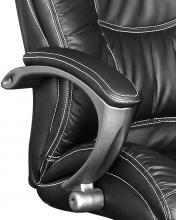 Bürostuhl Drehstuhl Schreibtischstuhl 60420S3 Kunstleder Chefsessel Schwarz