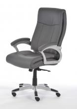Bürostuhl Drehstuhl Schreibtischstuhl 60430G7 Kunstleder Chefsessel Grau
