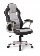 Bürostuhl Drehstuhl Schreibtischstuhl 60570SG7 Kunstleder Schwarz Grau