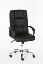 Bürostuhl Drehstuhl Schreibtischstuhl 60809L3 Kunstleder Chefsessel Schwarz