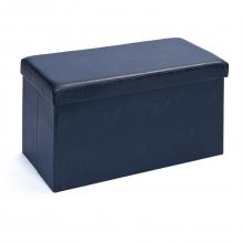 Hocker Stauraum Faltbox Spielzeugkiste Setto Schwarz