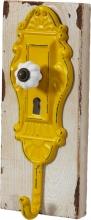 Wandgarderobe Jackenhaken Flurgarderobe B990939-13 Gelb Metall auf Holz