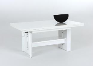 Couchtisch Tisch Stubentisch Dario 53/13 Weiß Ausziehbar Höhenverstellbar