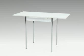 90-142x65 cm Esstisch Küchentisch Tisch Bonn I 13/29 Weiß Chrom ausziehbar