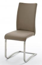 4 Freischwinger=Set Schwing - Stuhl ARCO2ELC Cappuccino ECHT LEDER