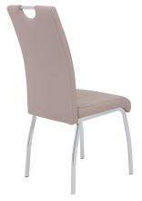 2 Stühle=Set Küchen-Stuhl, Esszimmer-Stuhl Andrea S 34 Kunstleder Cappuccino