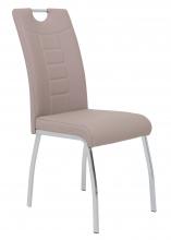 6 Stühle=Set Küchen-Stuhl, Esszimmer-Stuhl Andrea S 34 Kunstleder Cappuccino