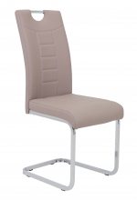 6 Freischwinger=Set Schwing - Stuhl Ruby 34 Kunstleder Cappuccino