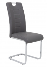 2 Freischwinger=Set Schwing - Stuhl Ruby 52 Kunstleder Grau