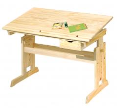 Lerntisch Schreibtisch Schülerschreibtisch Kindertisch Julia Massivholz Natur Lackiert