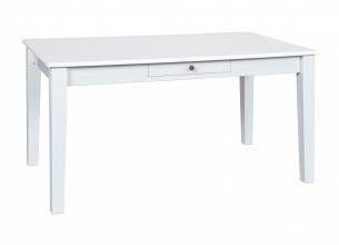 160x90 cm Esstisch, Tisch Westerland 17.1 Kiefer Massiv Weiß