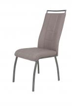 2 Stühle=Set Küchenstuhl Esszimmerstuhl Stuhl Amber 1 Webstoff Schlamm
