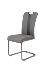 4 Freischwinger=Set Schwing - Stuhl Esszimmerstuhl Amber 2 Webstoff Anthrazit
