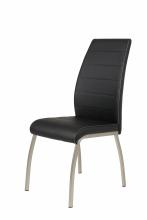 8 Stühle=Set Küchenstuhl Esszimmerstuhl Stuhl Amber 5 Kunstleder Schwarz