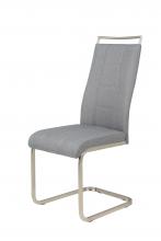 6 Freischwinger=Set Schwing - Stuhl Esszimmerstuhl Amber 6 Webstoff Grau